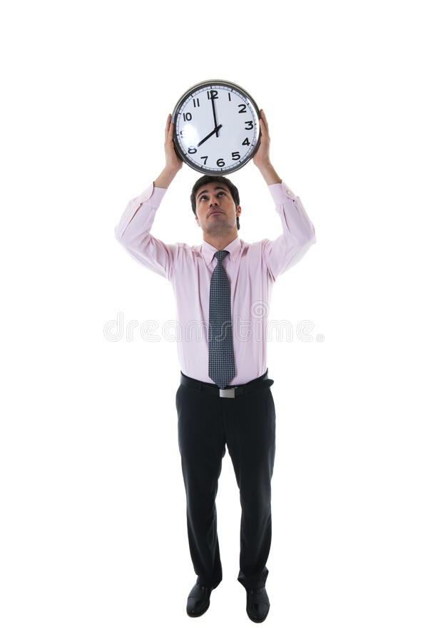 Download Businessman With Clock Above His Head Stock Image - Image: 17145139