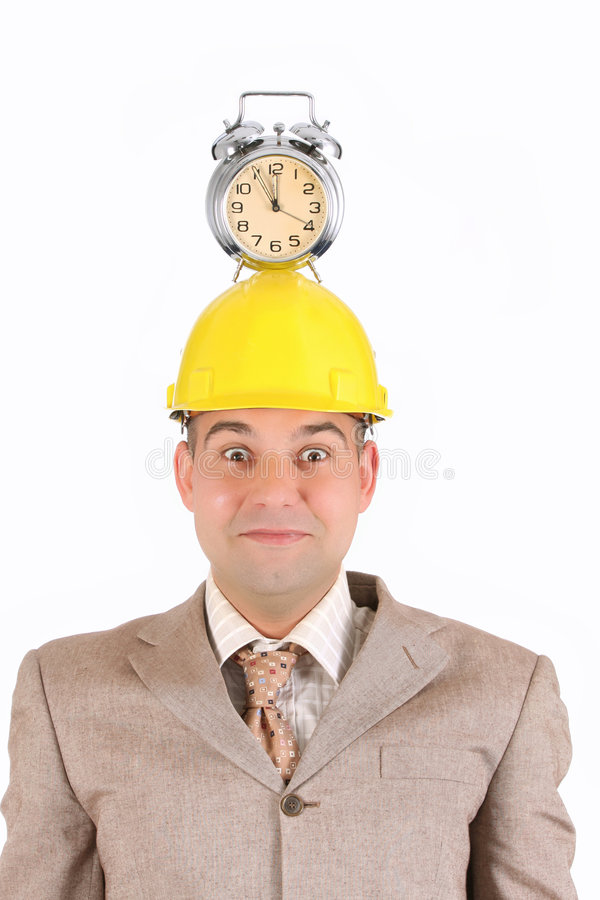 Download Businessman Clock Alarm On His Head Stock Image - Image: 5008173