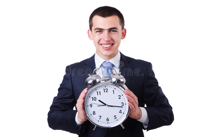 Download Businessman with clock stock photo. Image of busy, business - 34468880