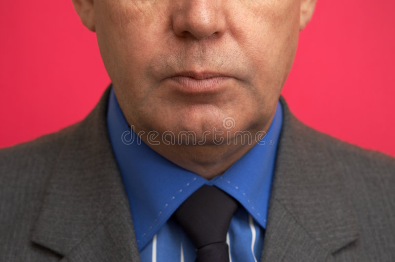 Businessman in close up royalty free stock photo