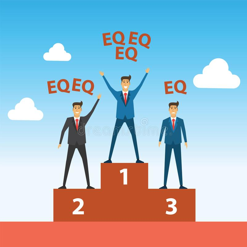 Businessman competition compare with winner has got more EQ than stock illustration