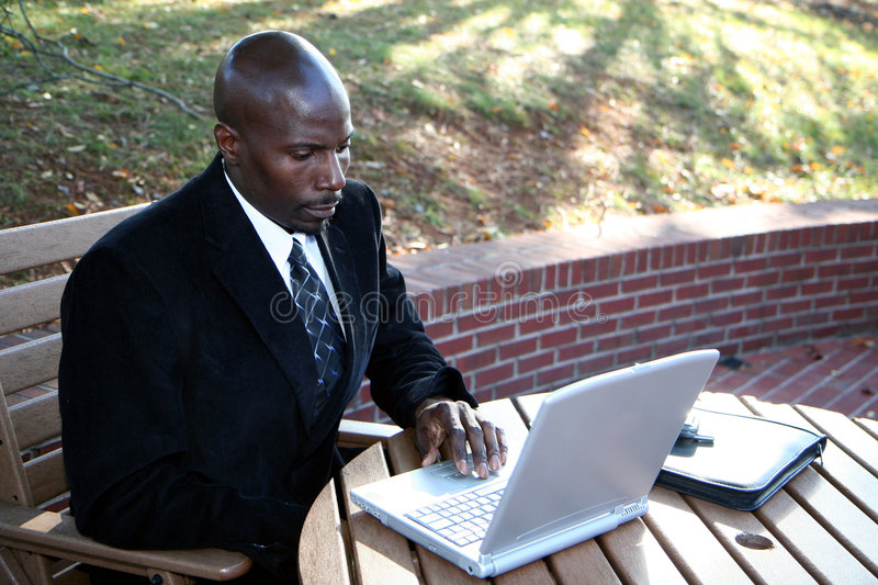 Download Businessman On Computer Royalty Free Stock Photography - Image: 1417487