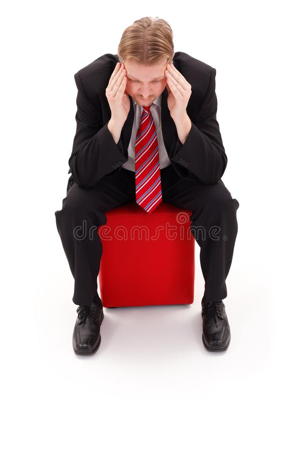 Businessman Concentrate Stock Photo