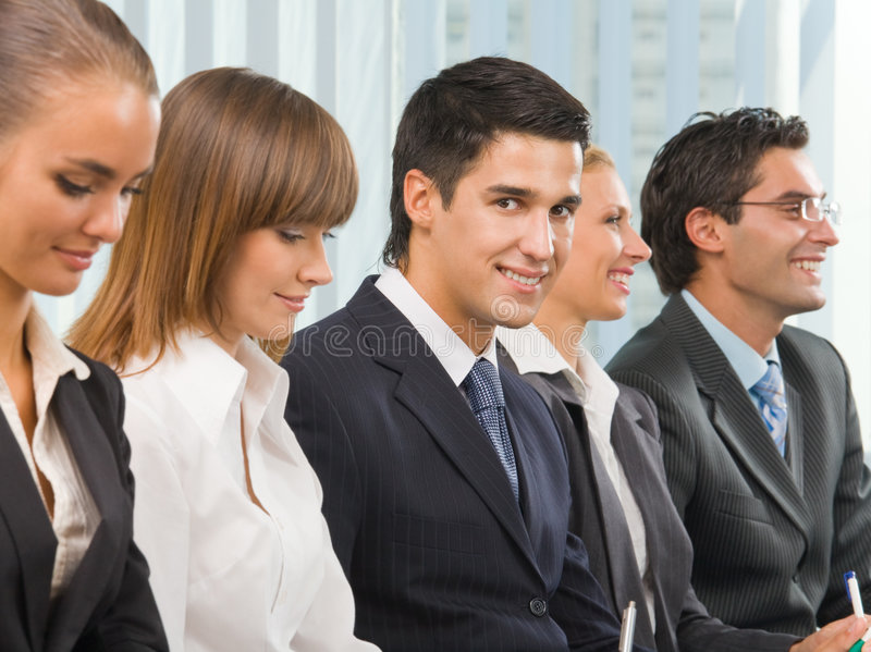 Businessman At Conference Royalty Free Stock Image