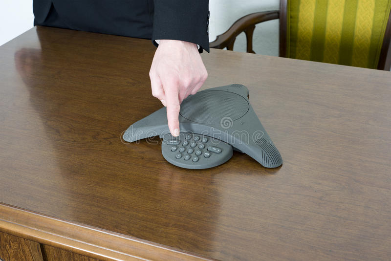 Businessman, Conference Telephone Business Office royalty free stock photography