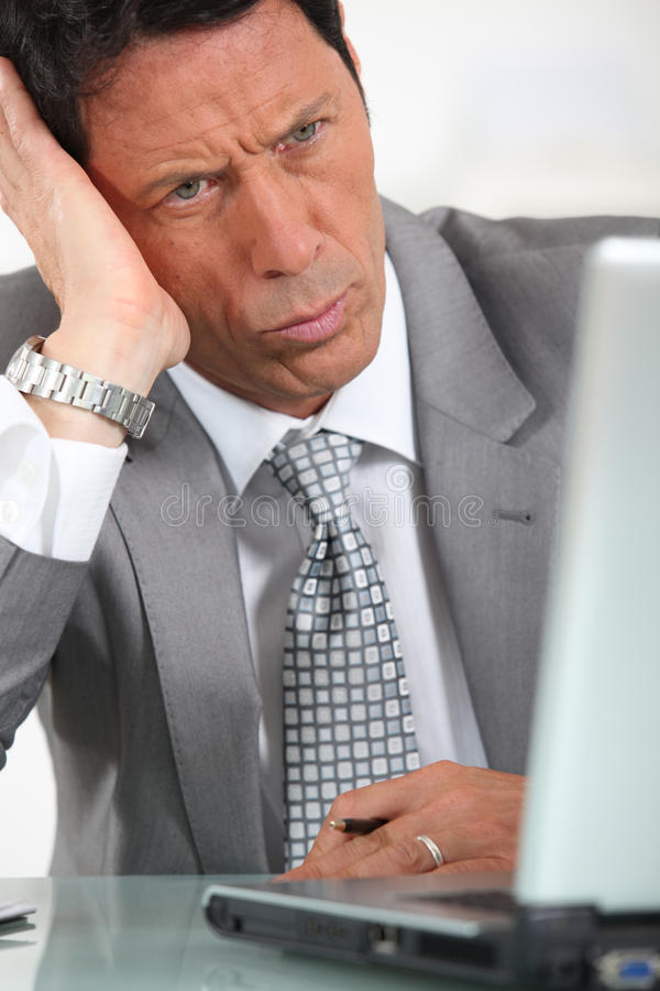 Download Businessman is confused stock image. Image of looking - 27385101
