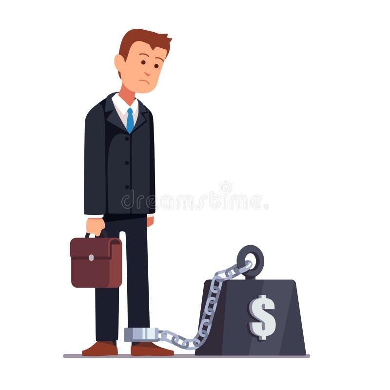 Businessman corporate slavery concept royalty free illustration