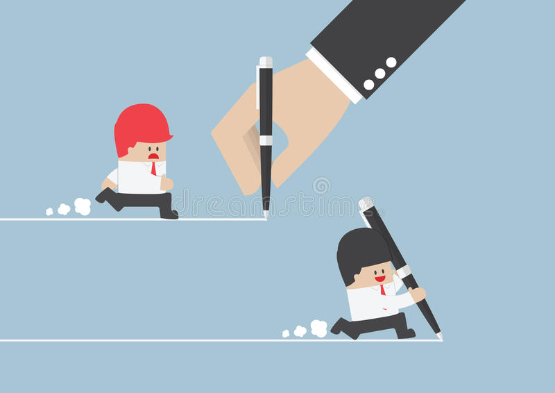 Businessman create own way to success. VECTOR, EPS10 royalty free illustration