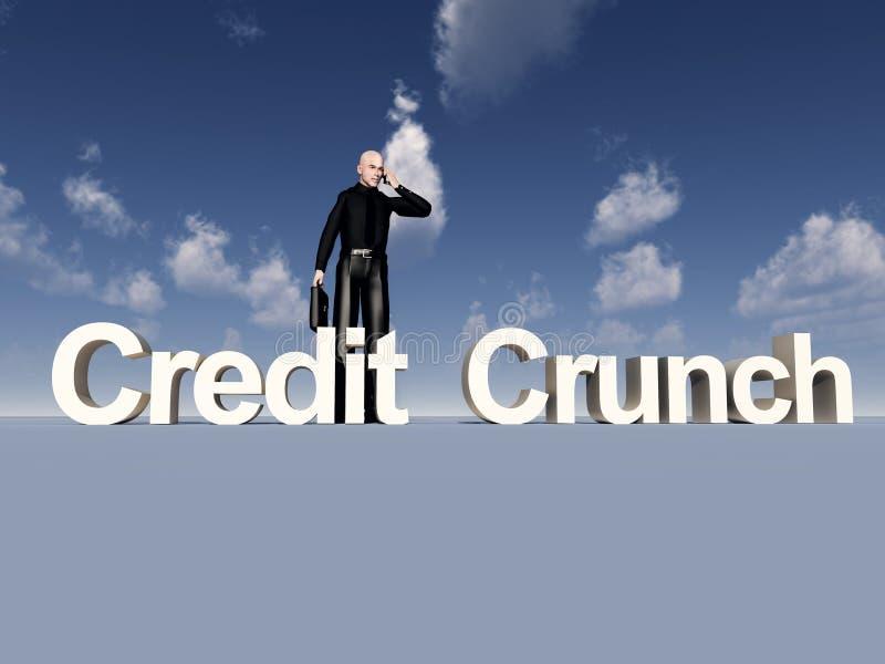 Download Businessman And Credit Crunch Stock Illustration - Illustration of crises, conceptual: 9639902