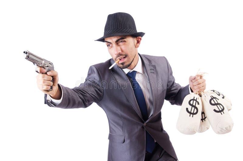 Download Businessman criminal stock photo. Image of mask, handgun - 30219978