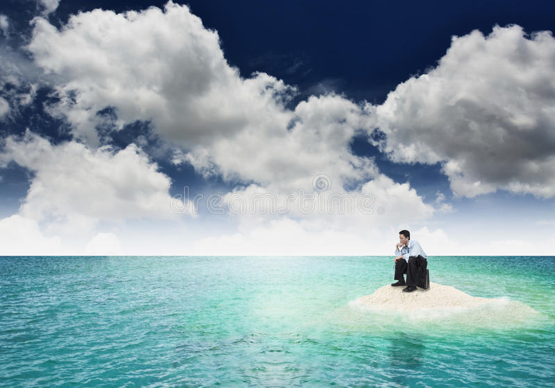 Download Businessman on crisis stock photo. Image of ocean, dead - 27138600