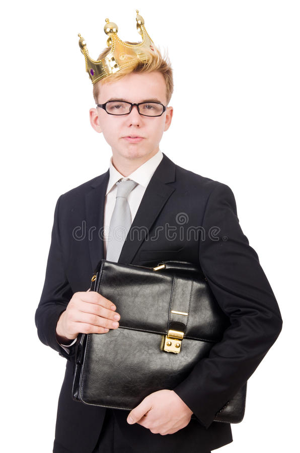 Download Businessman with crown stock image. Image of studio, successful - 42203617
