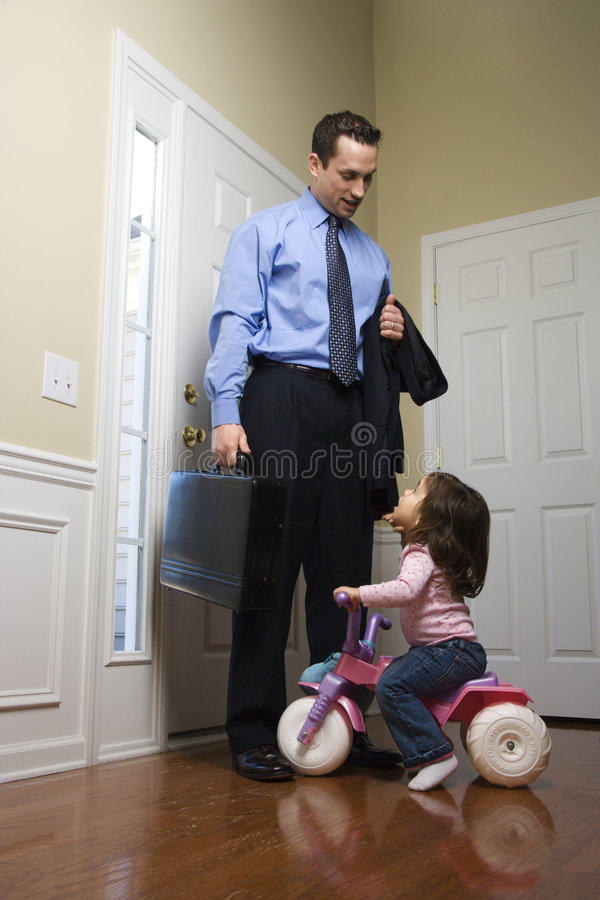 Businessman with daughter. royalty free stock photo