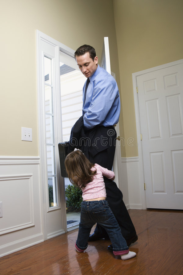 Businessman with daughter. royalty free stock photos