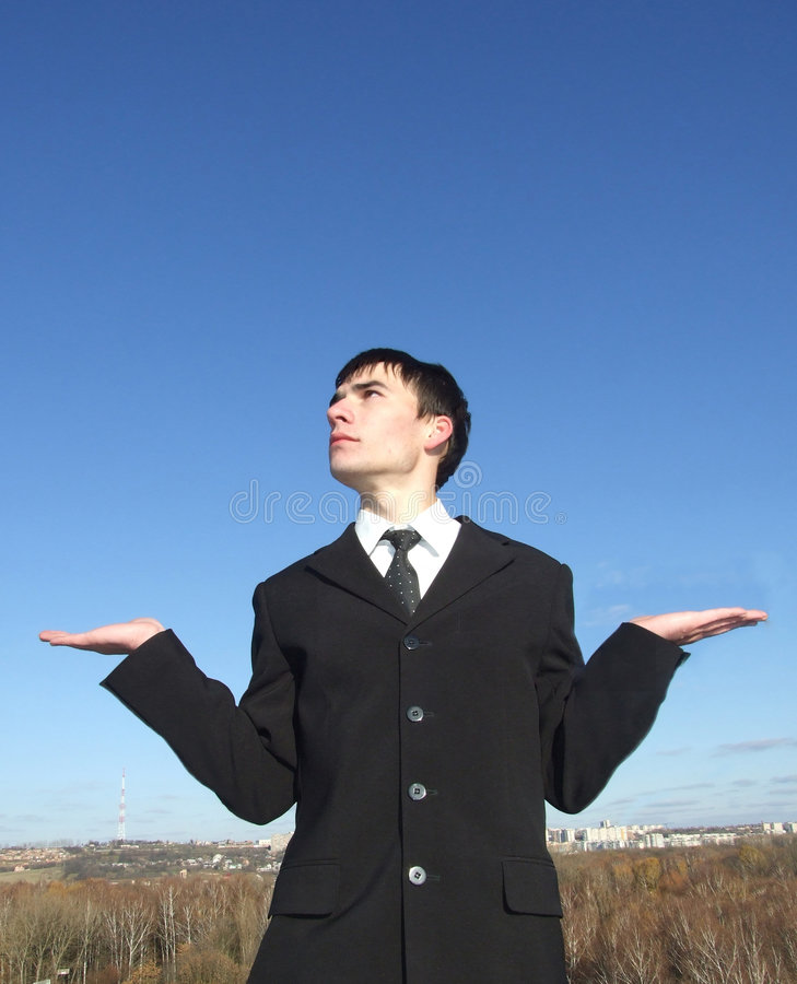 Businessman Decide stock photography