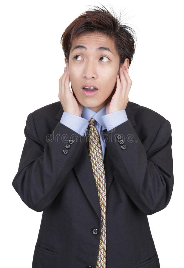 Download Businessman In Denial Not Listening Stock Image - Image: 12823701