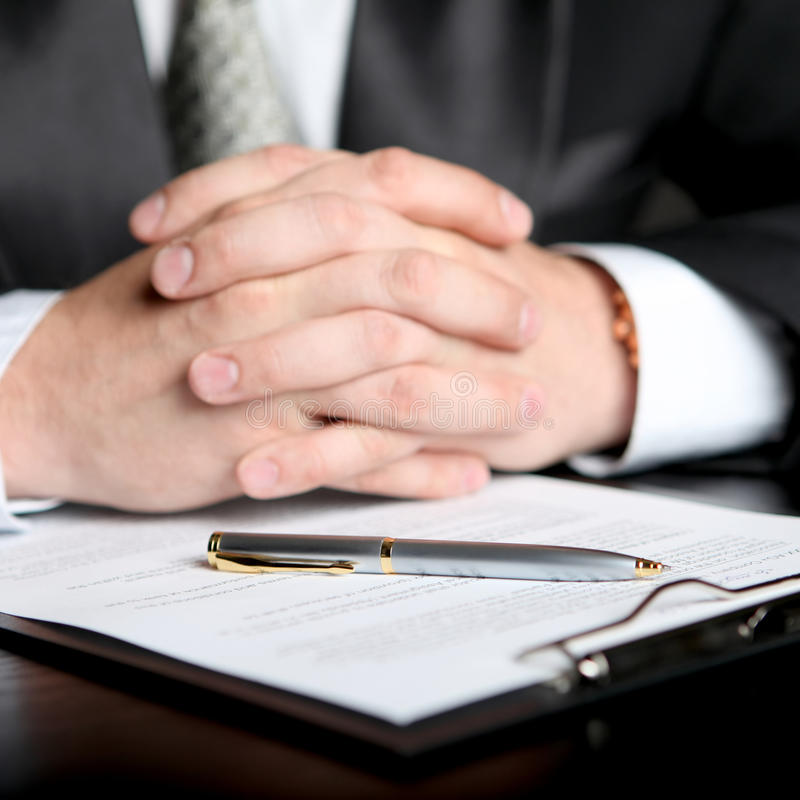Download Businessman & Document Royalty Free Stock Photography - Image: 11415417