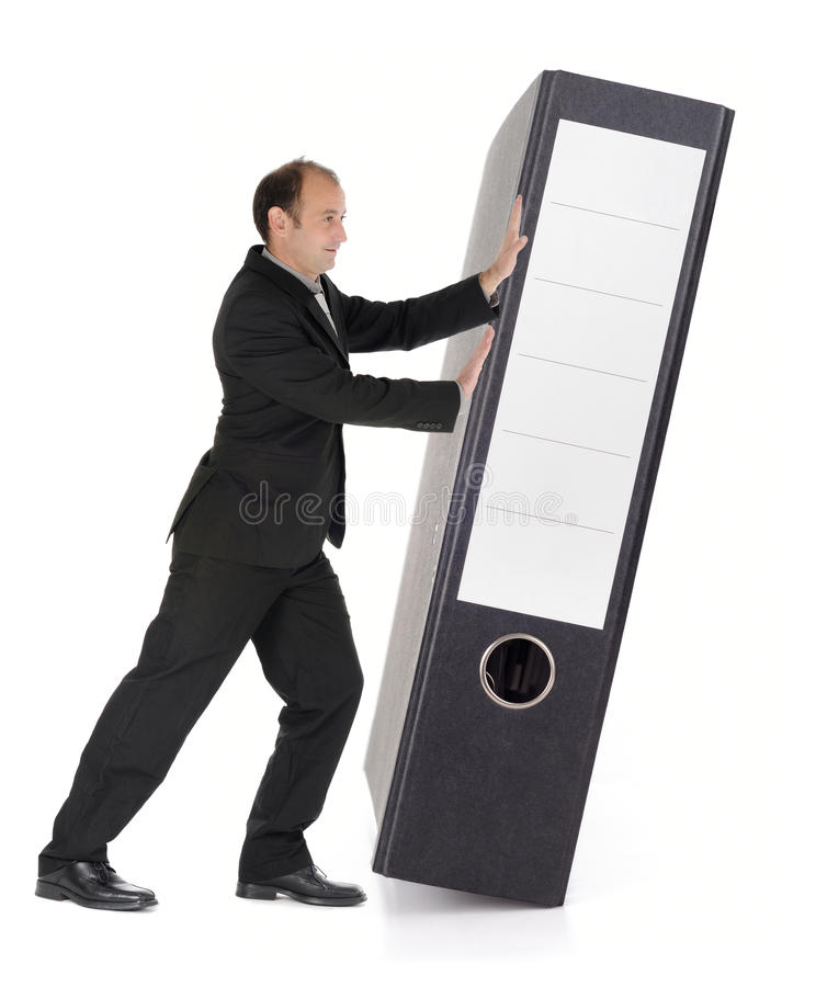Download Businessman With Document File Stock Photo - Image: 14087086