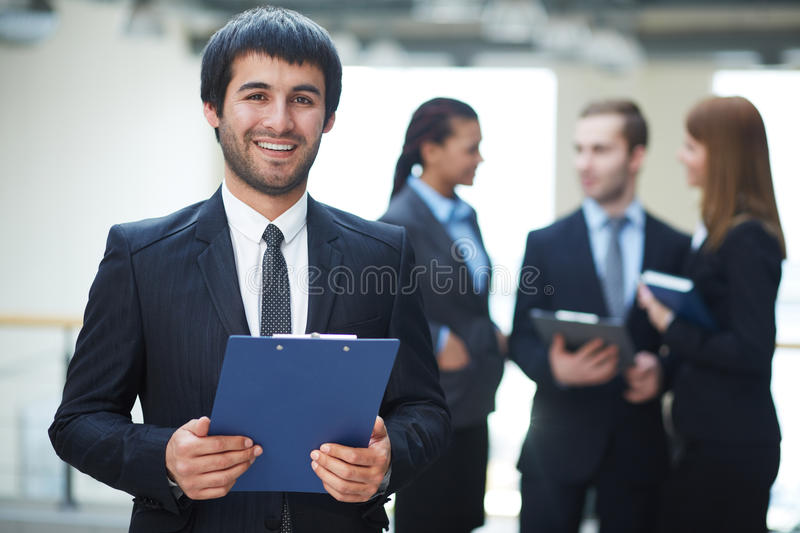 Download Businessman with document stock photo. Image of associate - 33381588