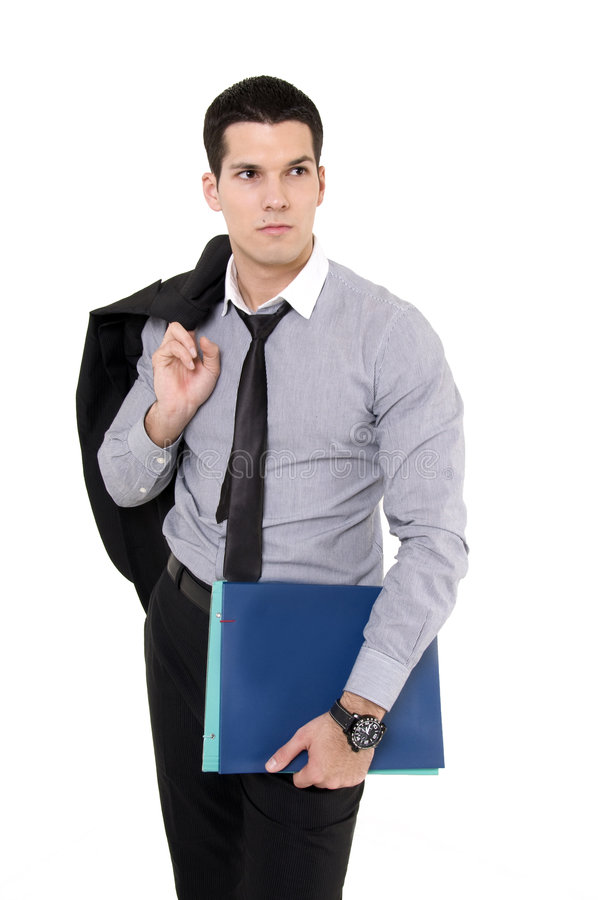 Businessman With Documents Stock Photography