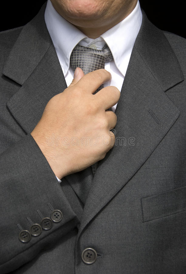 Download Businessman  doing a tie stock photo. Image of formal - 10311728