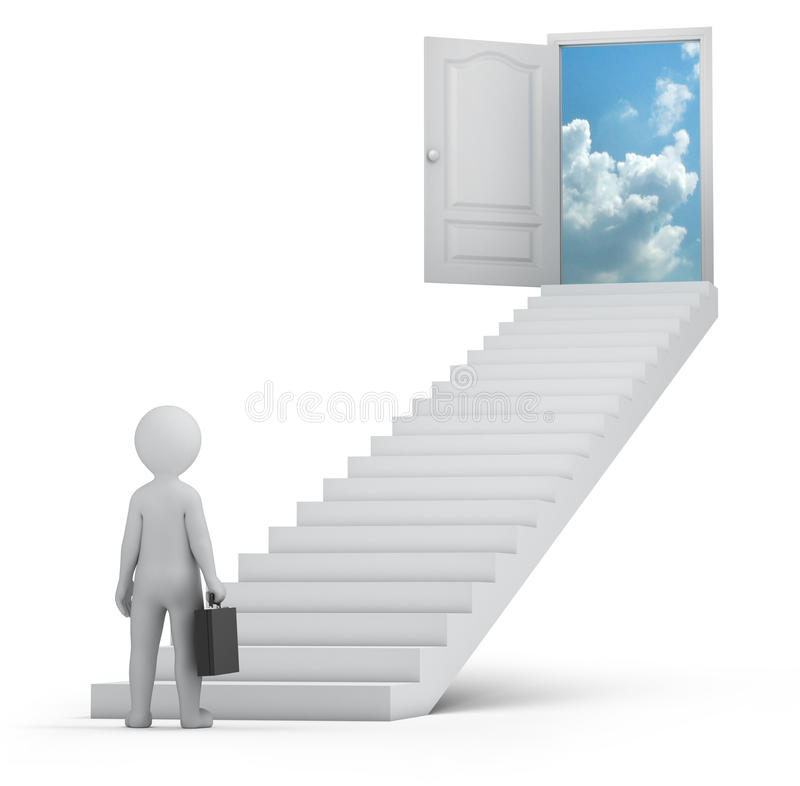Download Businessman And Door To Heaven Stock Illustration - Illustration of corporate, chief: 34652233