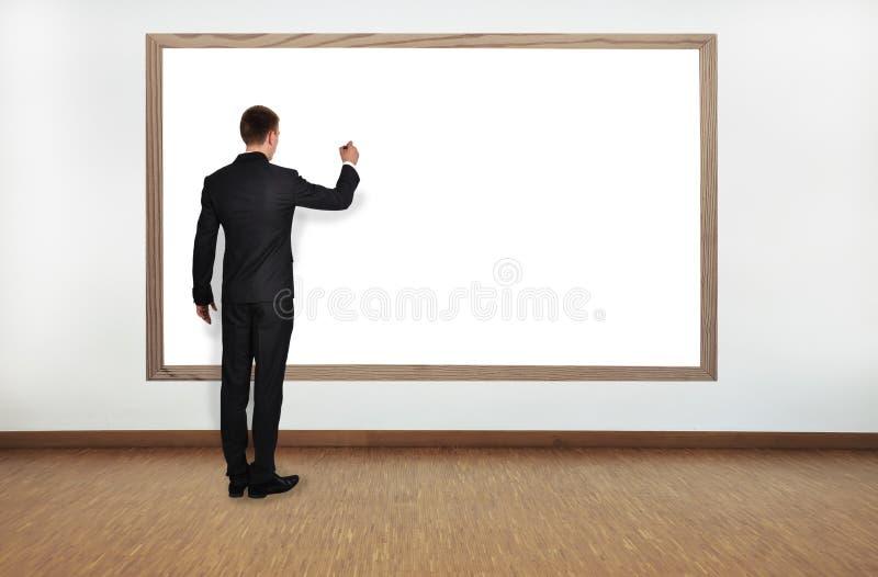 Businessman drawing