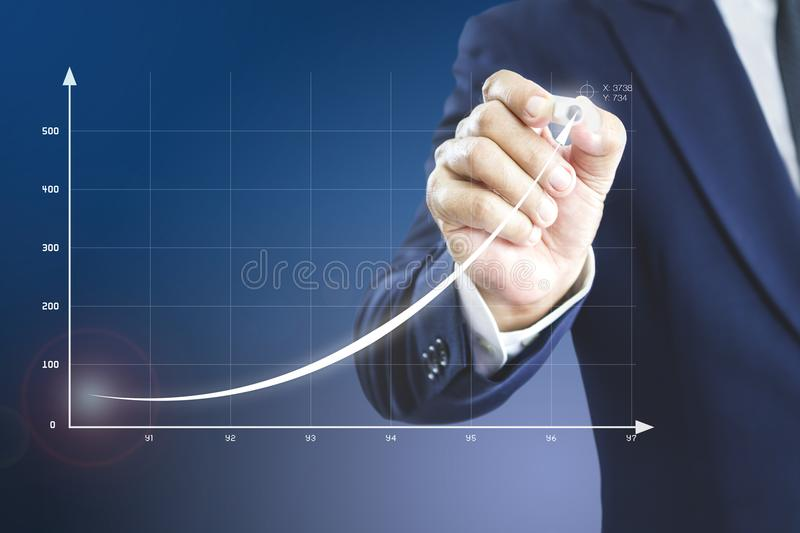 Return on investment presentation royalty free stock images