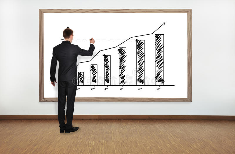 Download Businessman drawing graph stock image. Image of empty - 31805245