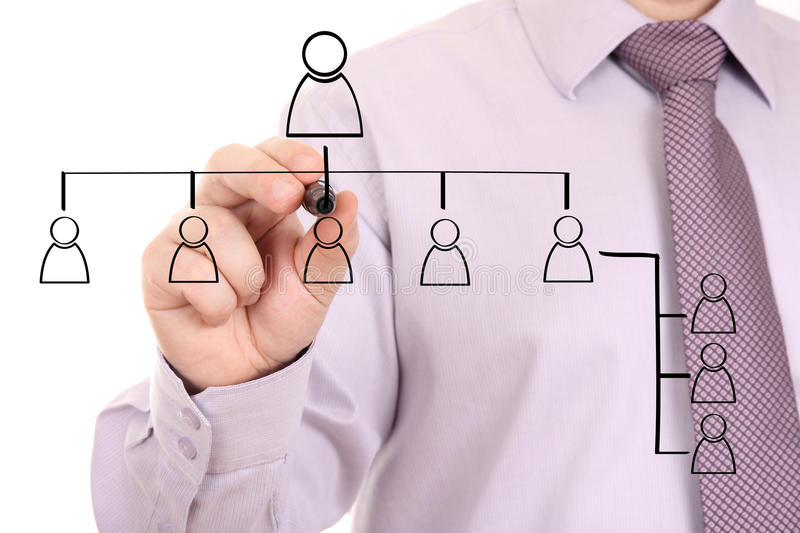 Download Businessman Drawing Social Network Stock Photo - Image: 27011400