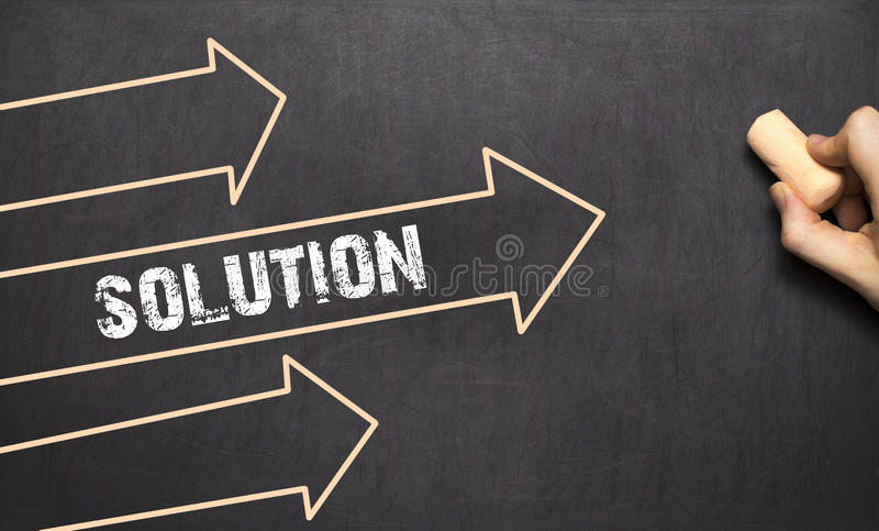 Download A Businessman Is Drawing Solution Concept With Arrows Stock Image - Image: 83703175