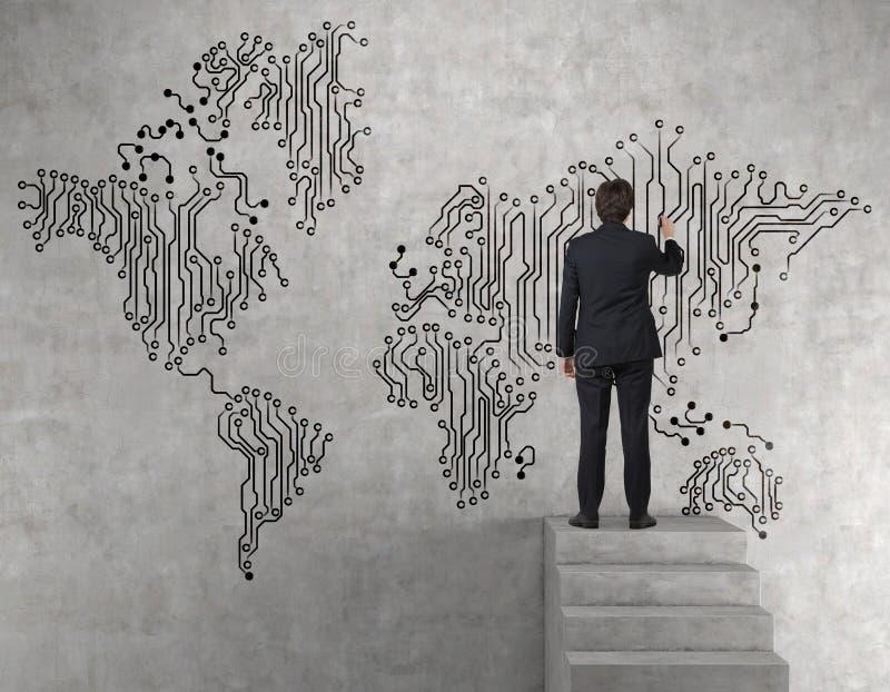 Businessman drawing web world map stock image image of summit download businessman drawing web world map stock image image of summit room 48735143 gumiabroncs Choice Image
