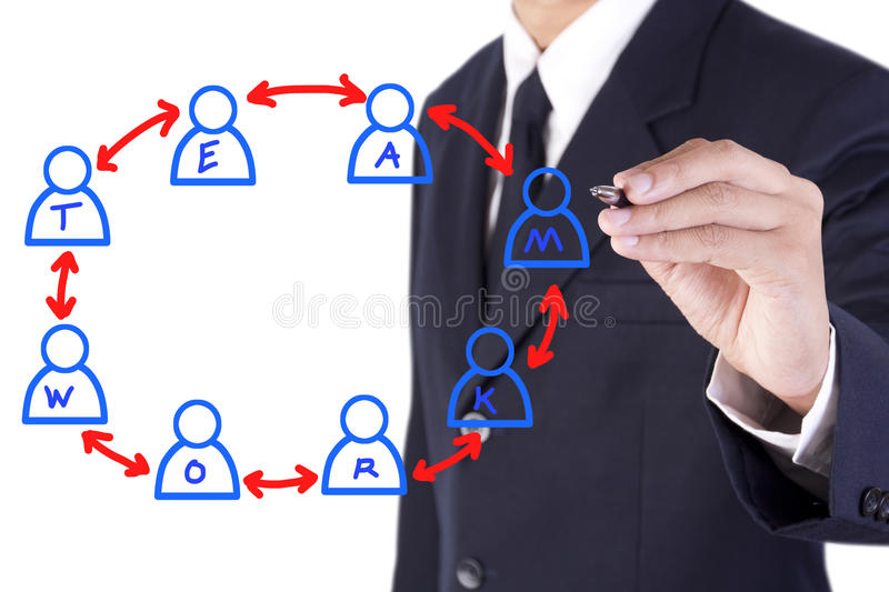 Download Businessman Drawing On White Board Stock Image - Image: 26835915