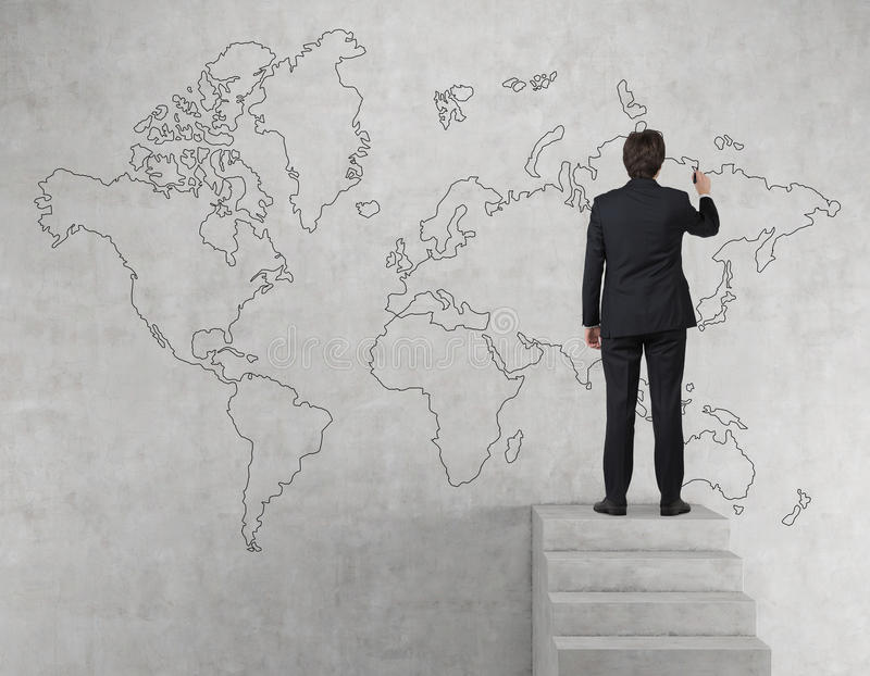 Businessman drawing world map stock image image of creativity download businessman drawing world map stock image image of creativity research 48048667 gumiabroncs Image collections
