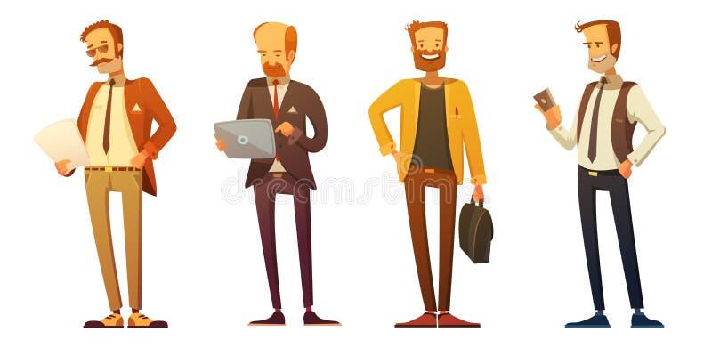 Download Businessman  Dress Code Retro Cartoon Set Stock Vector - Illustration: 82625349