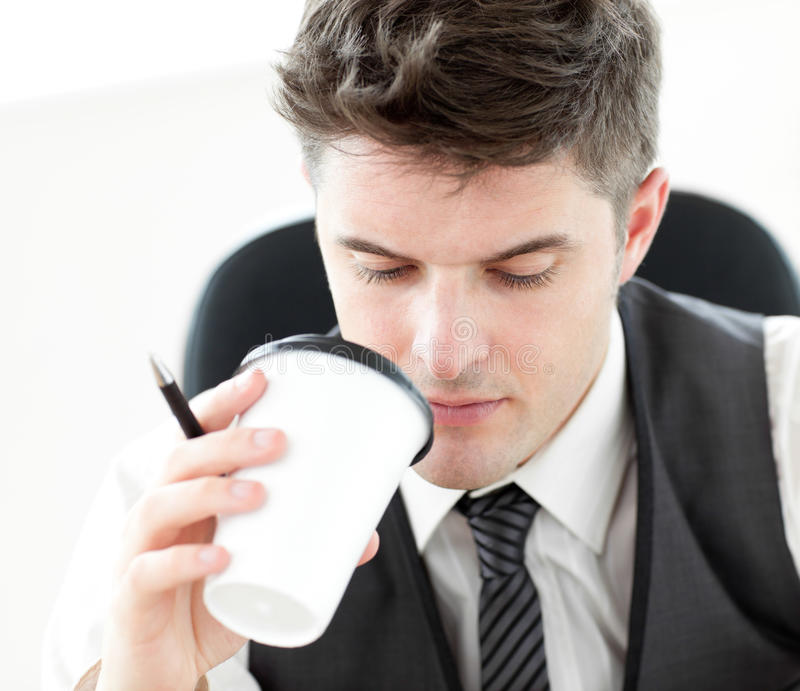 Download Businessman Drinking Coffee Stock Image - Image: 15266851