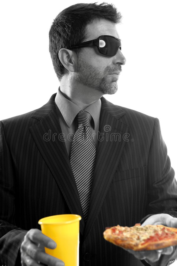 Download Businessman Eating Junk Fast Food Stock Image - Image: 7895501