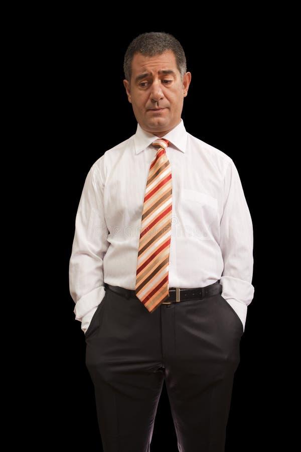 Businessman Emotion Thinking Pensive Stock Images