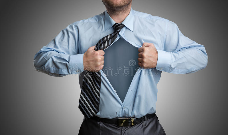 Businessman with emptiness inside stock photos