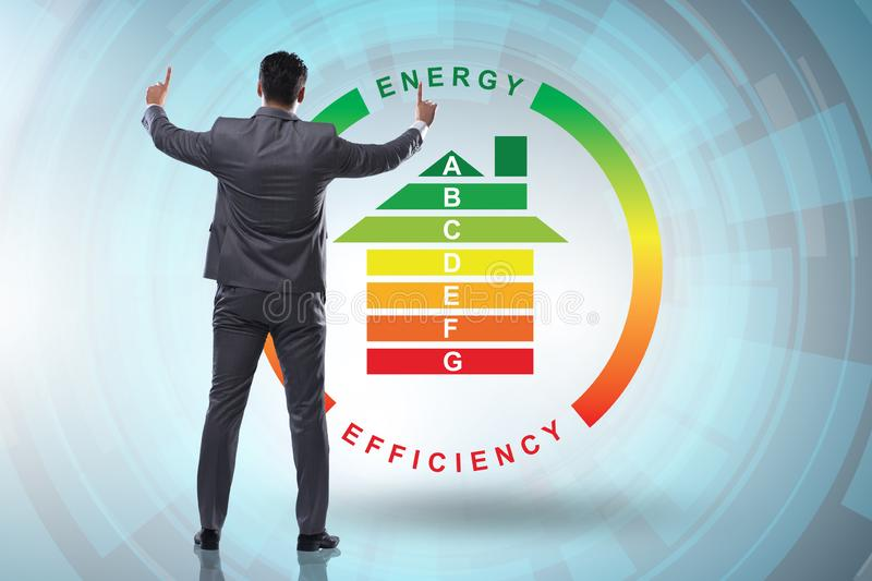 The businessman in energy efficiency concept royalty free stock photos