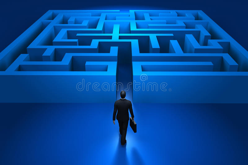 Download Businessman Entering The Labyrinth Stock Images - Image: 11370274
