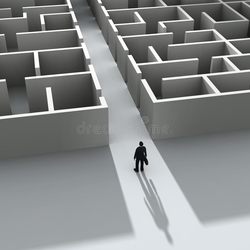 Download Businessman Entering The Labyrinth Stock Images - Image: 22326174