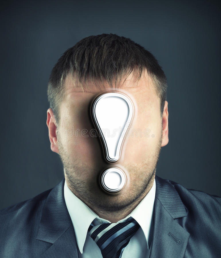 Download Businessman With Exclamatory Mark Stock Photo - Image: 33586952