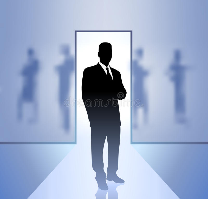Download Businessman Executive In Focus Stock Illustration - Illustration of generated, blurry: 13004722