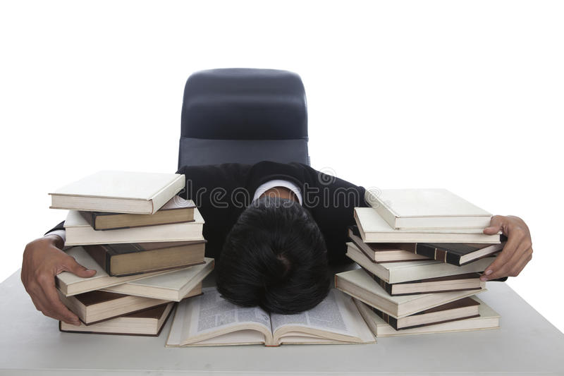 Download Businessman exhausted stock photo. Image of book, fatigue - 23559198