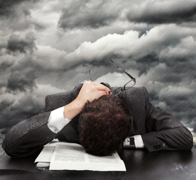 Free Businessman Exhausted Stock Images - 28279954