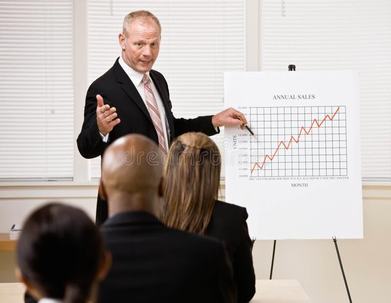 Download Businessman Explaining Financial Analysis Chart Stock Photo - Image: 6603202