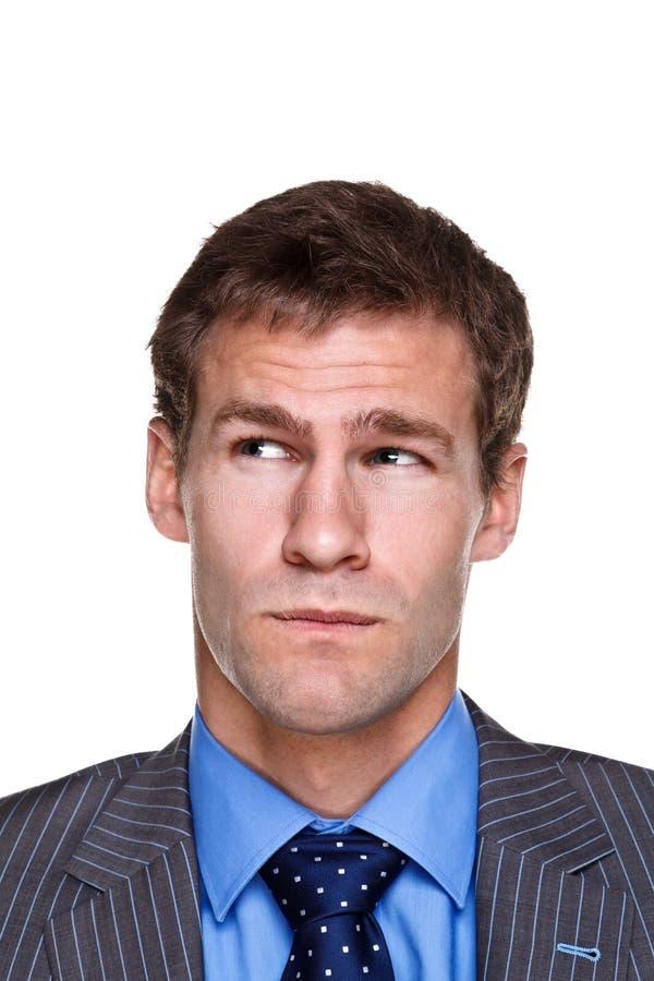 Businessman expression stock image