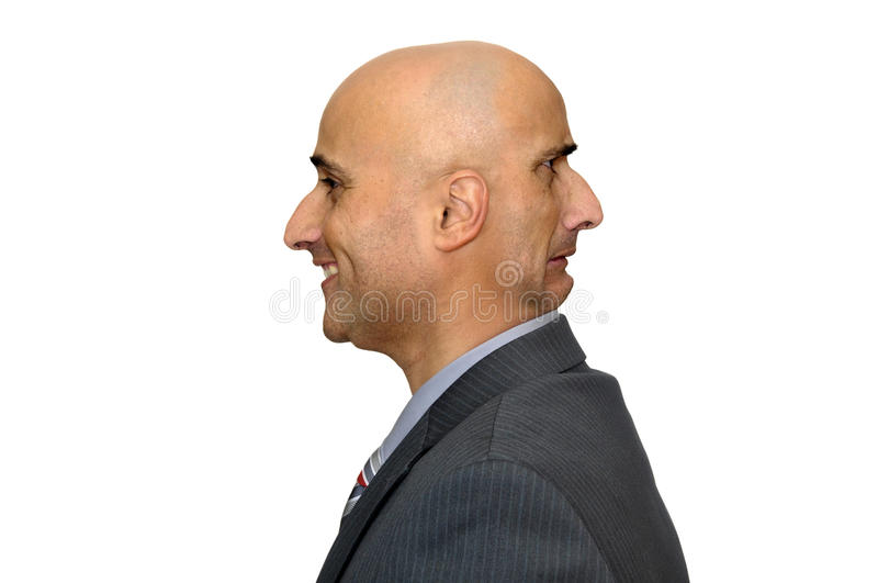 Businessman faces royalty free stock photo
