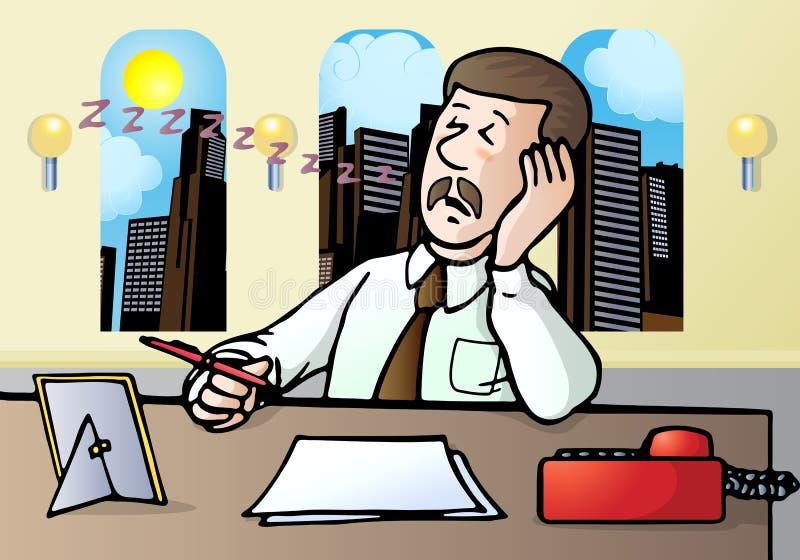 Businessman fall a sleep stock images